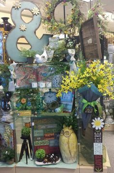 Spring display at Evie's Hallmark by Andi Crim.
