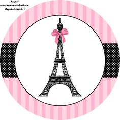 Paris: Free Printable Toppers (I personally used these, Very pleased for free bottle wrappers to personalize for Paris themed b-day party. Paris Party, Paris Birthday Parties, Paris Themed Parties, Paris Bridal Shower, Paris Baby Shower, Party Printables, Free Printables, Paris Rosa, Thema Paris