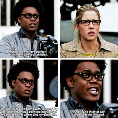 """""""You know, I have perfect confidence in your abilities"""" - Curtis and Felicity #Arrow"""