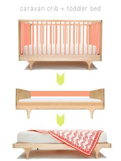 My recent discovery of Kalon Studios has made me seriously wish for a nursery re-do. As much as I love M& soft-hued and vintage-esque nursery, I am completely obsessed with the Kalon Studios Caravan Crib with its modern design and… Baby Bedroom, Nursery Room, Kids Bedroom, Baby Crib Diy, Baby Cribs, Grey Boys Rooms, Caravan, Baby Furniture, Kid Spaces