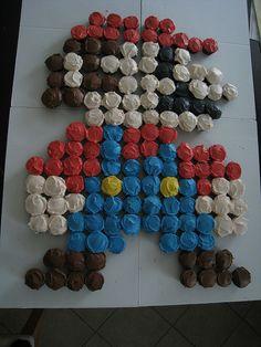 Super Mario Bros cupcake for easy party!!