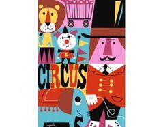 Plakát 50x70 Cirkus od OMM Design
