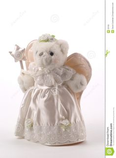 free angel teddy bear animation | Teddy Bear Tree Topper dressed as the Fairy GodMother angel.