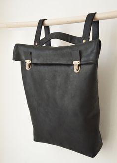 15 en cuir sac à dos / sac en cuir / sac à dos / par byNizzo