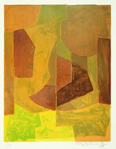 'Composition orange' by Serge Poliakoff, 1966.