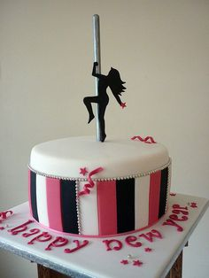 Pole dancing cake | Flickr - Photo Sharing!