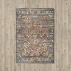 Anchor your living room or hallway scheme with this eye-catching rug, featuring a traditional Oriental-inspired design.
