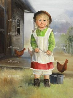 Dianne Dengel Chicken Painting, Baby Painting, Painting For Kids, Painting & Drawing, Art For Kids, Cool Paintings, Animal Paintings, Beautiful Paintings, Vintage Artwork
