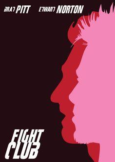 Fight Club Minimalistic Poste by Pavel Pashutin in 100 Fresh Minimal Movie Posters