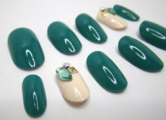 NailKandy: Stick On 3D Nails Teal Gems Oval