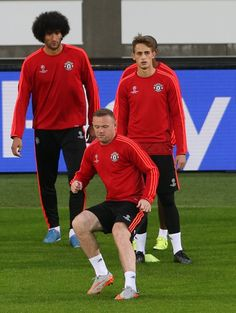 from #mufc's Tuesday training session in Belgium