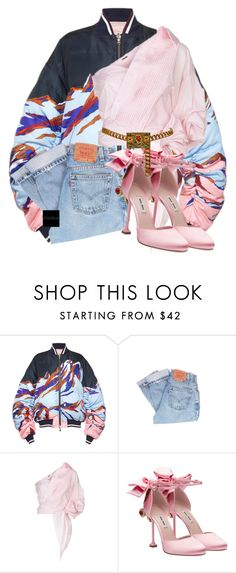 """Untitled #915"" by jetadorejas ❤ liked on Polyvore featuring Emilio Pucci, Levi's, Johanna Ortiz, Miu Miu and Chanel"