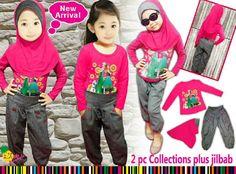 Setelan Baju Muslim Celana Joger Anak Perempuan umur 2-3-4-5-6-7 tahun - http://keikidscorner.com/baju-anak-perempuan/baju-muslim/setelan-baju-muslim-celana-joger-anak-perempuan-umur-2-3-4-5-6-7-tahun.html