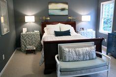 bryn alexandra: Our Master Bedroom  Gunmetal Benjamin Moore
