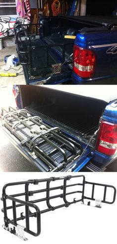 The universal truck bed expander is great for hauling loads longer than the truck bed. Telescopes to fit almost any size pick-up and is compatible with the Toyota Tundra. Use to carry ladders, wood and much more.
