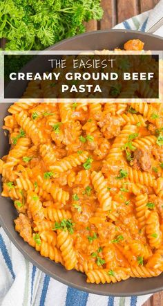 Creamy Ground Beef Pasta is an easy weeknight meal that's ready in just 30 minutes. Fast, fresh, and flavorful, this hearty meal will quickly become a favorite! #groundbeef #groundbeefpasta #pasta #pastarecipes #groundbeefrecipes #dinner #dinnerrecipes #30minutedinner Ground Beef Pasta, 30 Minute Dinners, Easy Family Dinners, Delicious Dinner Recipes, Easy Weeknight Meals, Ground Beef Recipes, Slow Cooker Recipes, Pasta Recipes, Main Dishes