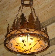 """As Shown: Rust patina finish, silver mica and rawhide dome.  Dimensions: 36"""" Diameter x44"""" High  Optional Dimensions: 24"""" Diameter x 32"""" High"""