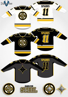 The Hamilton Steel are a factitious Hockey team residing in Hamilton Ontario. This is a personal project to create Canadian hockey teams for a professional league called The Canadian Hockey Associa… Nhl, Hamilton Ontario, Jersey Boys, National Hockey League, Hockey Teams, Industrial, Football, Concept, Steel