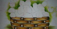 como pintar cesta em tecido , pintura em tecido cesta passo a passo, como fazer.fabric painting, tutorial