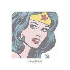 Pop Wonder Woman Modern cross stitch pattern  by LeRayonDeSoleil