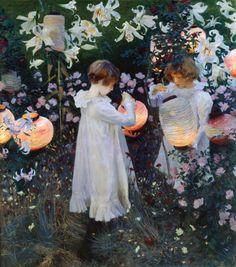 "la-berma-phedre: ""aizobnomragym: "" John Singer Sargent ""Carnation, Lily, Lily, Rose"" "" favorite """