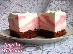 Epres-joghurtos zebrakocka | Sütemény Receptek