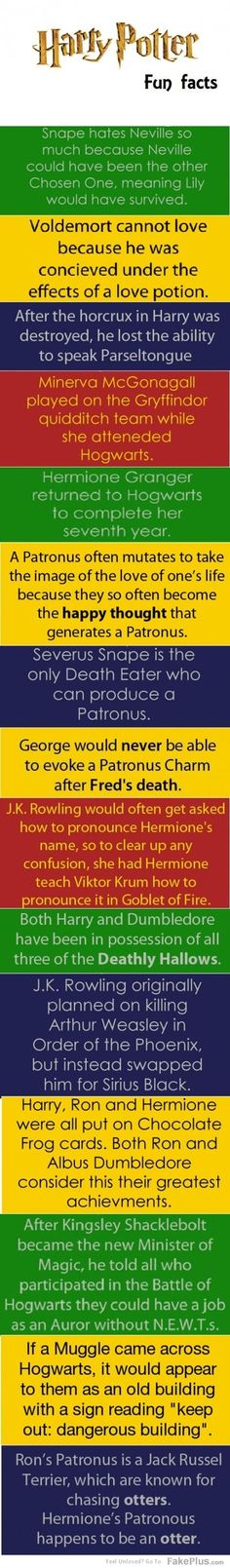 """This was titled """"Harry potter facts you probably didn't know"""".. Is it embarrassing or awesome that I knew them?"""