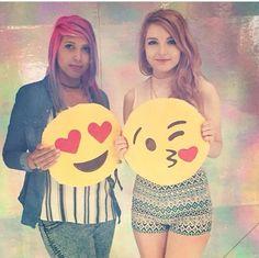 Lizzie holding emoji