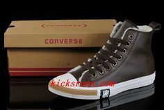Fashion Brown Soft Nap Converse Winter All Star Shearling High Tops Leather Shoes         #Fashion #Shoes