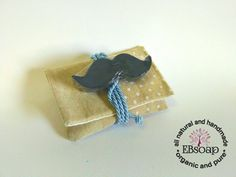 Moustache soap for baby shower favors