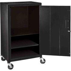 Black Metal Storage Cabinet
