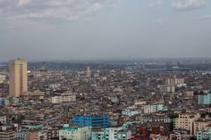 Havana. That tall building on the left is the Hermanos Ameijeiras Hospital; just right of it, the dome of El Capitolio.