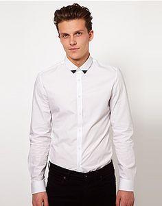 ASOS Fashion Finder | ASOS Shirt With Contrast Collar Tip