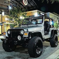 I like the black added to this jeep. Jeep Jk, Jeep Garage, Jeep Wrangler Lifted, Jeep Truck, Jeep Wrangler Unlimited, Chevy Trucks, Jeep Wrangler Accessories, Jeep Accessories, Offroad