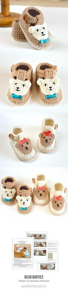 Bear Booties crochet pattern