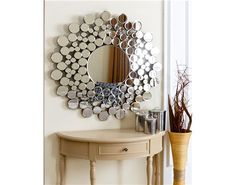 Look at this Buchon Round Bubble Wall Mirror by Abbyson Living Mirror Crafts, Mirror Art, Diy Mirror, Bathroom Mirrors, Glass Mirrors, Mosaic Mirrors, Magic Mirror, Oversized Wall Mirrors, Round Mirrors