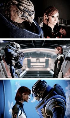 Shepard and Garrus, Mass Effect 2
