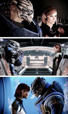 Shepard and Garrus, Mass Effect 2
