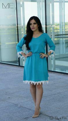 Look do Dia: Vestido Turquesa - Mulher de Fibra | Blog da Paola
