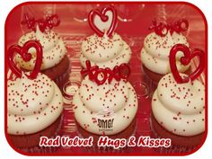 Send Hugs & Kisses this Valentines with our Omg! Red Velvet Hugs & Kisses Collection! Visit Omg! Cupcakes at	https://www.facebook.com/OmgCupcakesGP.