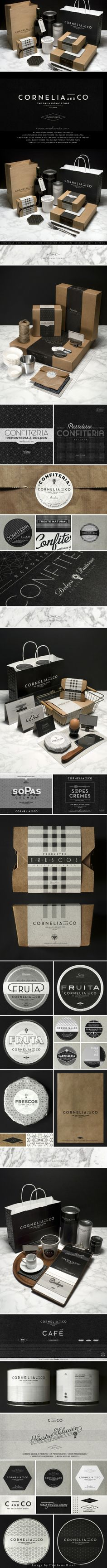 Oldie but goodie gorgeous Cornelia  Co #identity #packaging #branding curated by Packaging Diva PD created via http://creativedesignmag.com/cornelia-co-brand-identity-packaging-design/