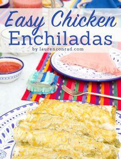 Lauren Conrad's Easy Chicken Enchiladas