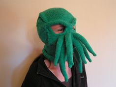 Cthulhu will eat your faaaaace, and your soul will make a lovely dessert. Protip: Knit this in super-scratchy yarn for extra soul-nomming action!