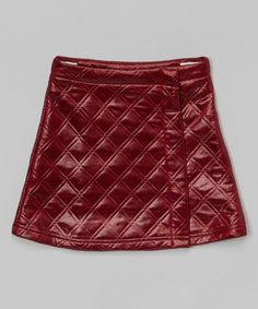 Look at this Maroon Quilted Wrap Skirt - Toddler