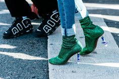 Take a look at the shoes seen on the feet of the most stylish girls on the streets of New York, London, Milan and Paris at Fashion Week Spring/Summer 2017. Photos by Sandra Semburg.