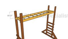This step by step woodworking project is about monkey bars plans. I have designed this project so you can build an entertaining playset for your kids. Diy Monkey Bars, Indoor Monkey Bars, Backyard Playground, Backyard For Kids, Diy For Kids, Backyard Playhouse, Playground Ideas, Playhouse Furniture, Diy Kids Furniture