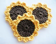 Crochet Sunflower (with link to free pattern)
