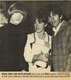Brian Jones, Louise Criscione, and Keith Richards at RCA