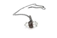 Raw Quartz Necklace, Festival Necklace, Quartz Necklace for Men, Crystal Quartz Necklace, Healing Crystal Jewelry, Gypsy Necklace, Raw Stone
