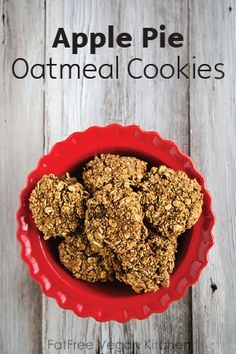 Apple Pie Oatmeal Cookies are a healthy vegan dessert with all the rich and delicious flavors of fall you crave. They're delightfully soft and chewy—and the perfect treat after a chilly day spent jumping in piles of leaves with the kids.